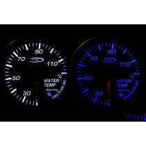 PRO RACING GAUGE 52mm - vízhőfok Kék&FEHÉR